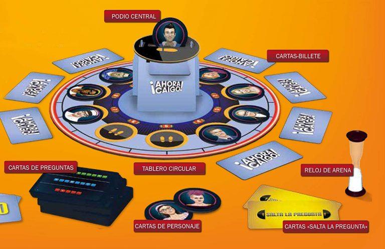 Juegos de mesa de televisión - juego de Ahora caigo tablero