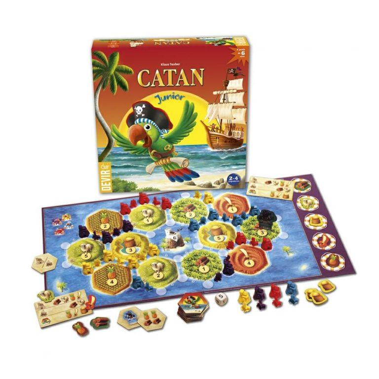 Juegos de mesa para niños - Juego de mesa de Catan Junior tablero