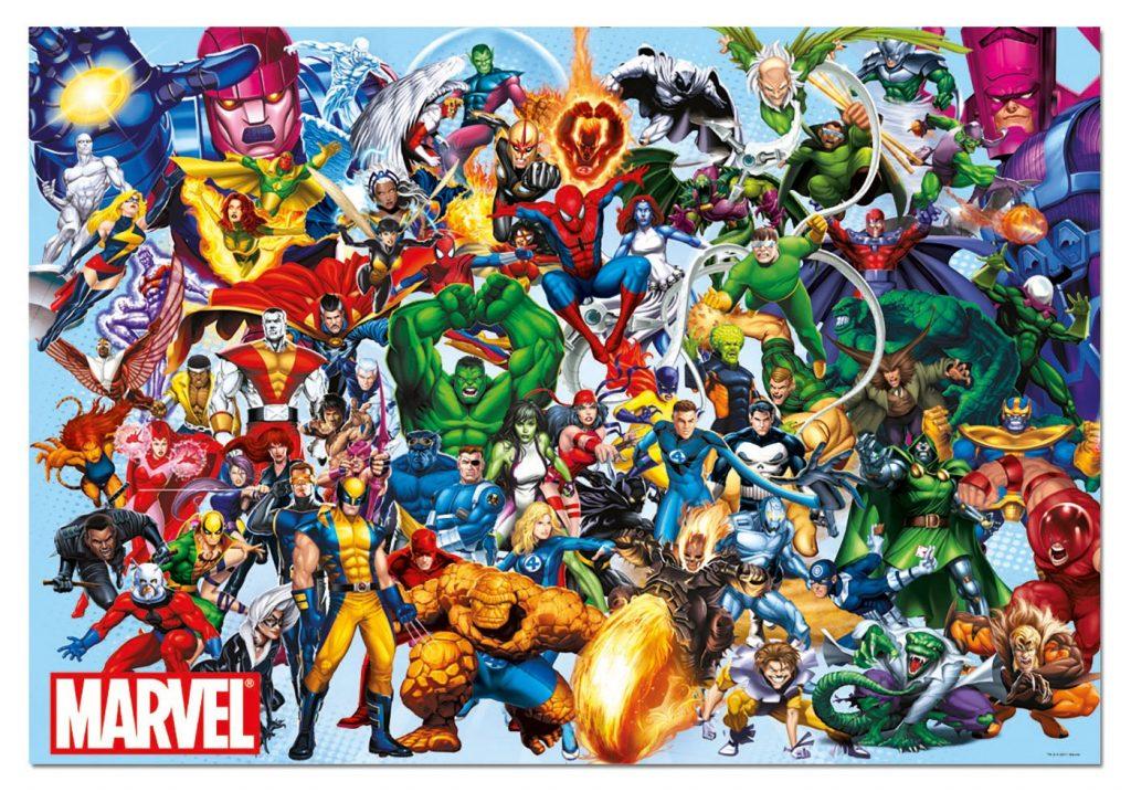 Puzzles de Marvel - Puzzle de superheroes - personajes clásicos