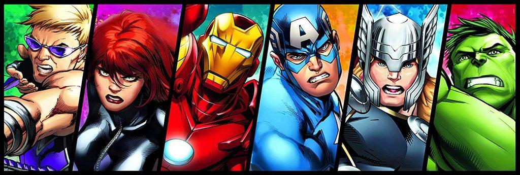 Puzzles de Marvel - Puzzle de superheroes en panorámica