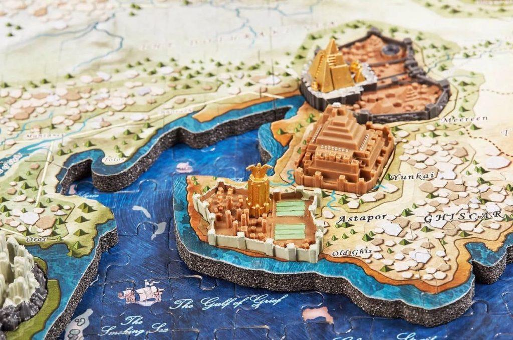 Puzzles en 4D - Puzzles en 4 dimensiones - Puzzle en 4D de Juego de tronos mapa