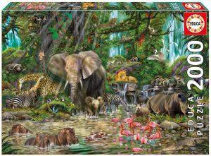 Puzzle de animales - La Jungla - 2000 piezas