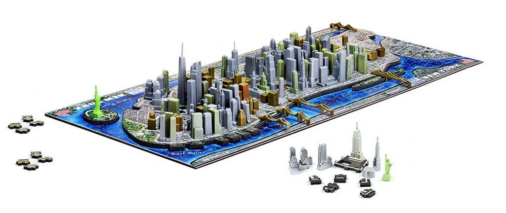 Puzzles en 4D - Puzzles en 4 dimensiones - Puzzle en 4D de Mapa de Nueva York
