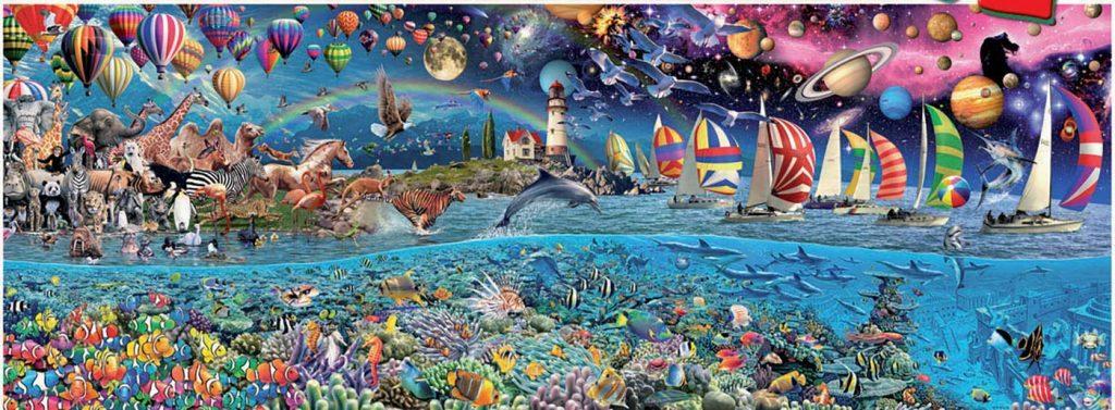 Puzzles gigantes - Puzzle 24000 piezas. Vida mayor hecho