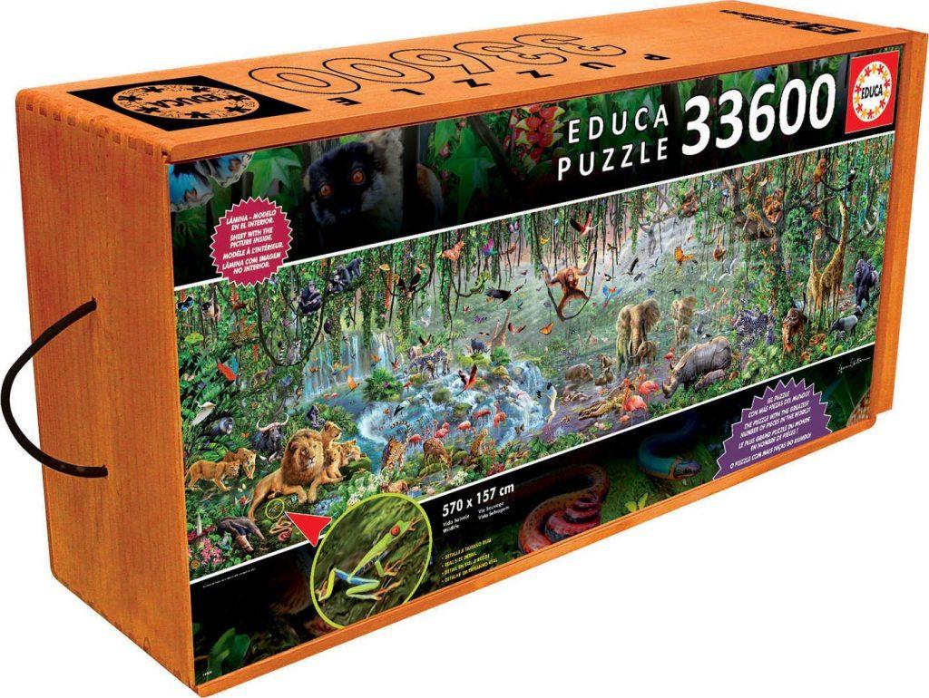 Puzzles gigantes - Puzzle 33600 piezas - Animales salvajes