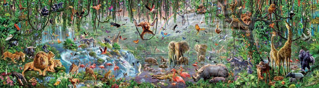 Puzzles gigantes - Puzzle 33600 piezas - Animales salvajes hecho