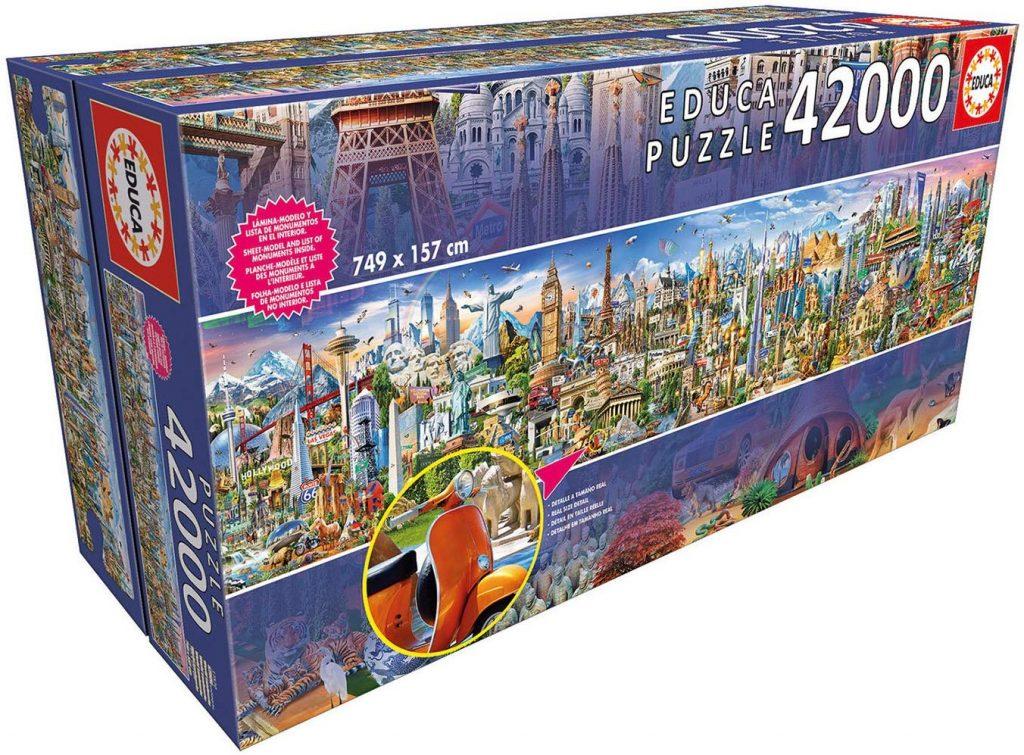 Puzzles gigantes - Puzzle 42000 piezas la vuelta al mundo