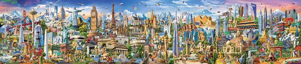 Puzzles gigantes - Puzzle 42000 piezas la vuelta al mundo hecho