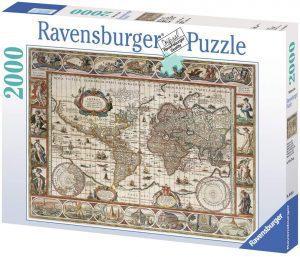 Puzzle de Mapa del mundo físico y político de 2000 piezas