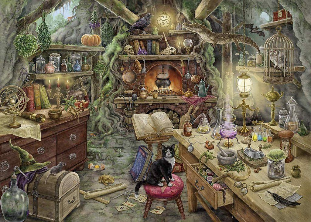 Puzzles de Escape Room - bruja hecho