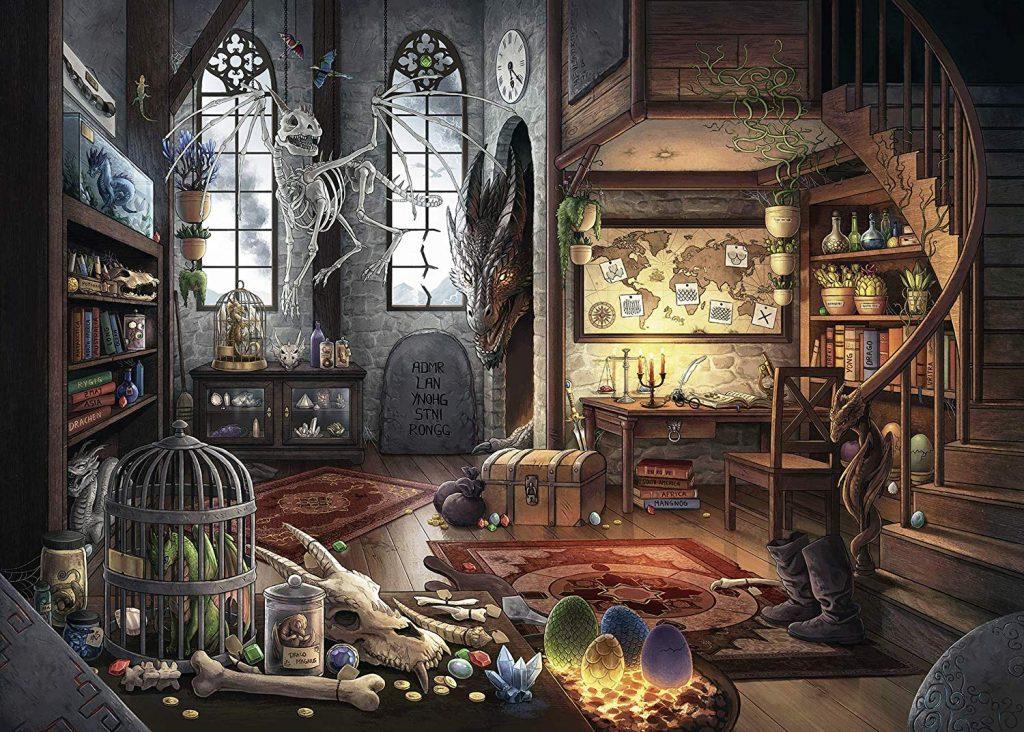 Puzzles de Escape Room - dragon hecho