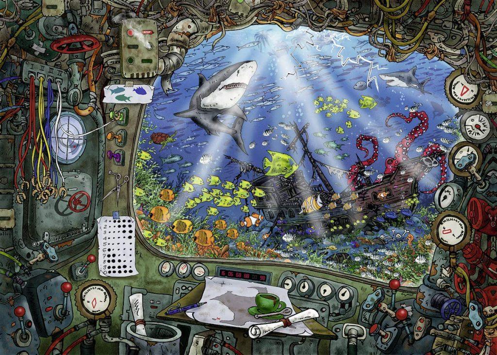 Puzzles de Escape Room - Puzzle escape submarino hecho
