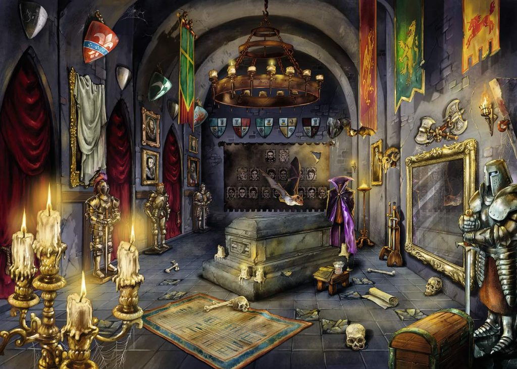 Puzzles de Escape Room - vampiro hecho