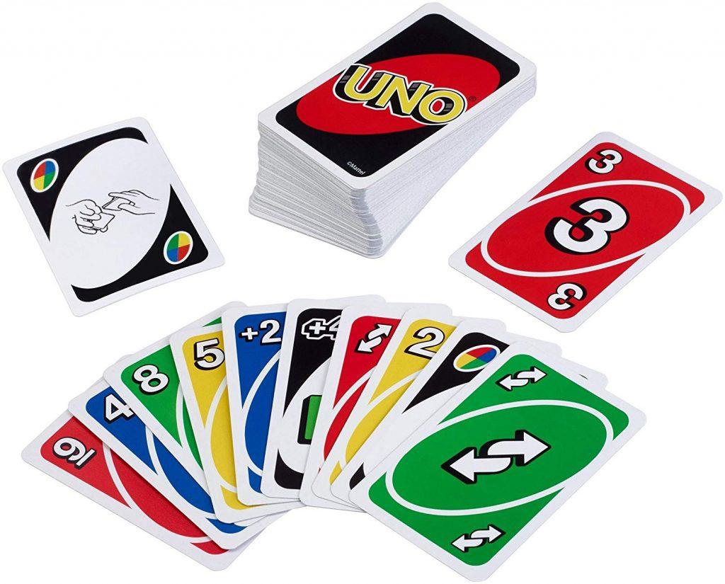 Juego de mesa de bolsillo y de viajes - juego de cartas UNO tablero