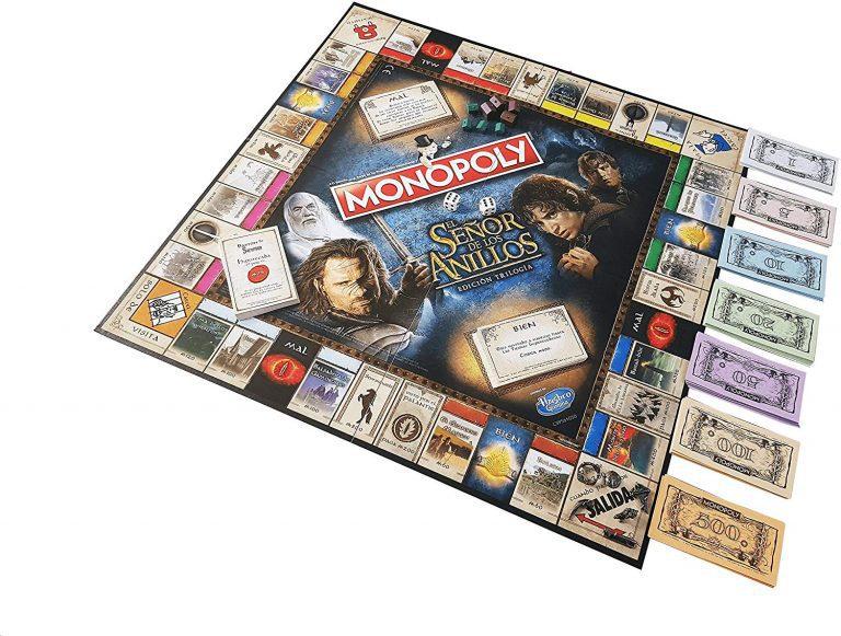 Tablero de Monopoly del Señor de los Anillos