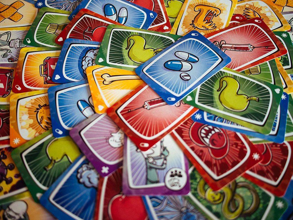 Juegos de cartas - Juego Virus tablero