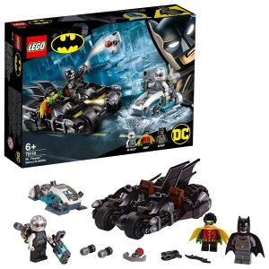 Sets de Lego de juguetes de construcción de Batman - Batmoto vs Freeze
