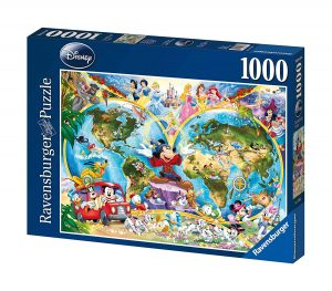 Puzzles de Disney - Puzzle Mapamundi Disney