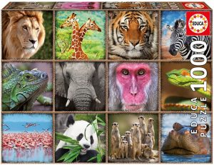 Puzzles de animales collage