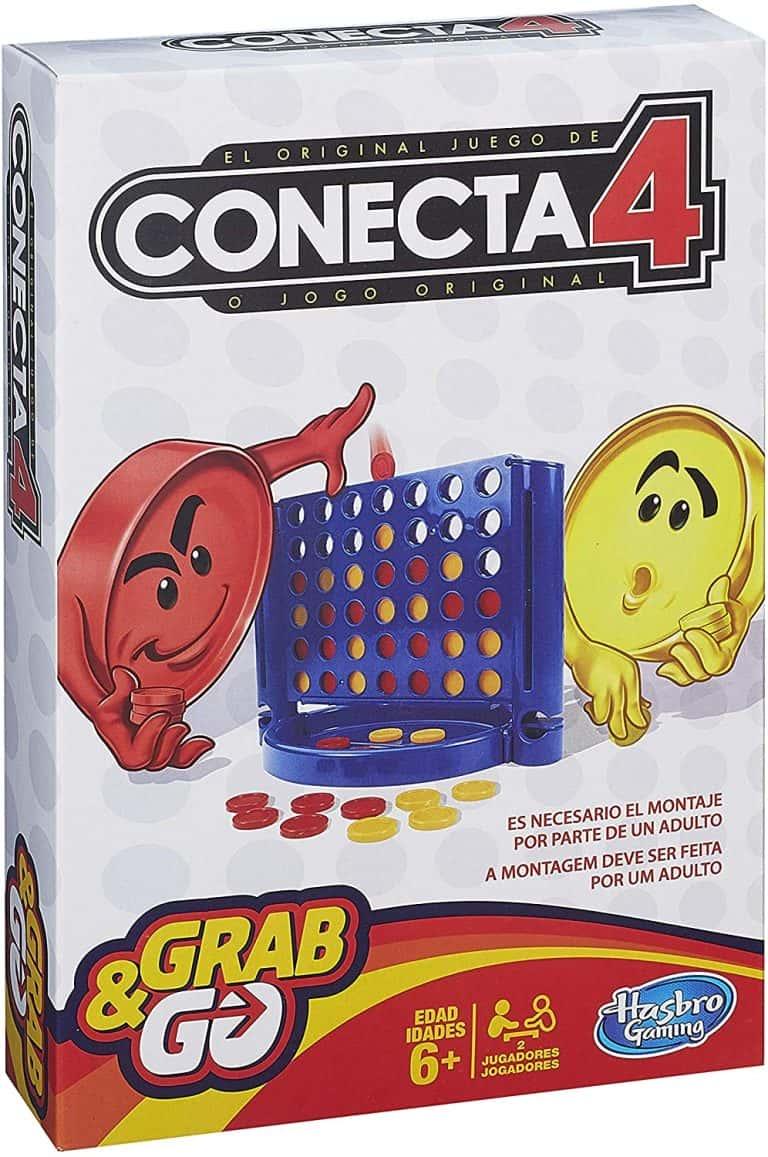Conecta 4 en casa juego de viaje