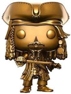 Funko de Piratas del Caribe de Jack Sparrow Dorado