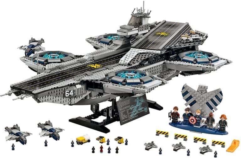 Sets de Lego de construcción de Marvel Vengadores - LEGO el helitransporte de Shield