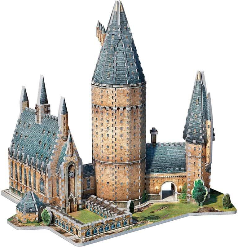 Puzzle en 3D del gran salon de Hogwarts de Harry Potter