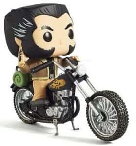 Los mejores FUNKO POP de Marvel X-men - Funko de Lobezno en motocicleta