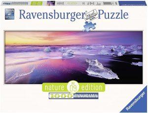 Los mejores puzzles de Islandia - Puzzle Panorama del Lago Jökulsárlón de Islandia de 1000 Piezas