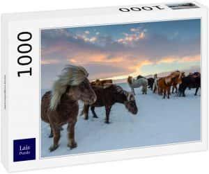 Los mejores puzzles de Islandia - Puzzle de caballos en Islandia de 1000 Piezas