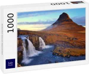 Los mejores puzzles de Islandia - Puzzle de la cascada Kirkjufell de Islandia de 1000 Piezas