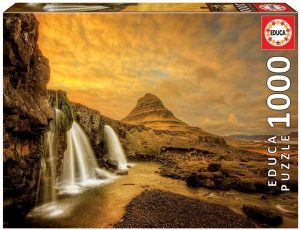 Los mejores puzzles de Islandia - Puzzle de la cascada Kirkjufell de Islandia de 1000 Piezas de Educa