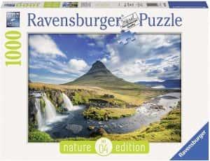 Los mejores puzzles de Islandia - Puzzle de la cascada Kirkjufell de Islandia de 1000 Piezas de Ravensburger