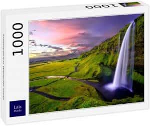Los mejores puzzles de Islandia - Puzzle de la cascada Seljalandsfoss de Islandia de 1000 Piezas