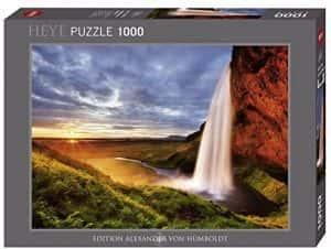 Los mejores puzzles de Islandia - Puzzle de la cascada Seljalandsfoss de Islandia de 1000 Piezas de Heye