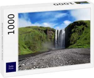 Los mejores puzzles de Islandia - Puzzle de la cascada Skogafoss de Islandia de 1000 Piezas
