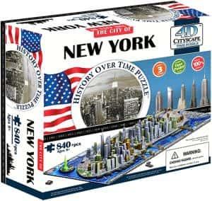 Los mejores puzzles de Nueva York - Puzzle del Mapa de Nueva York en 4D