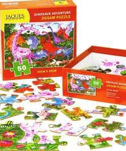Los mejores puzzles de dinosaurios - Puzzle de Aventura de dinosaurios de 50 piezas de Jaques London