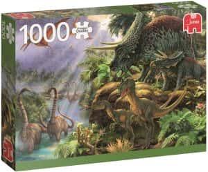 Los mejores puzzles de dinosaurios - Puzzle de dinosaurios de 1000 piezas de Jumbo