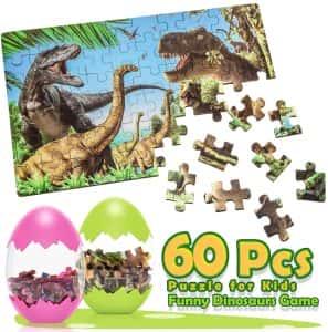 Los mejores puzzles de dinosaurios - Puzzle de dinosaurios de 60 piezas de Dreamingbox