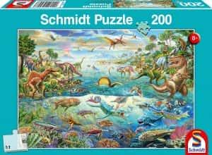 Los mejores puzzles de dinosaurios - Puzzle de dinosaurios de la antiguedad de 200 piezas de Schmidt