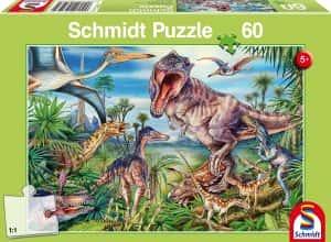 Los mejores puzzles de dinosaurios - Puzzle de dinosaurios de la antiguedad de 60 piezas de Schmidt
