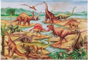 Los mejores puzzles de dinosaurios - Puzzle de dinosaurios de suelo de 48 piezas de Melissa Doug