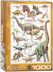 Los mejores puzzles de dinosaurios - Puzzle de dinosaurios del Jurásico de 1000 piezas de Eurographics