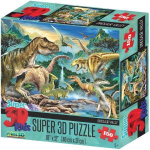 Los mejores puzzles de dinosaurios - Puzzle de dinosaurios efecto 3D de 150 piezas de Howard Robinson