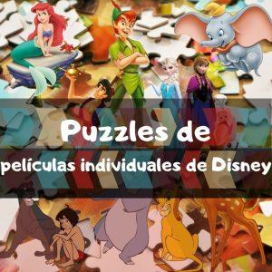 Los mejores puzzles de películas individuales de Disney - Puzzles de Bambi, Rey León, Peter Pan, Dumbo, Frozen y demás películas de Disney