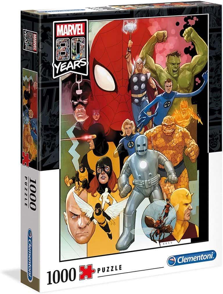Puzzle de Marvel Comics de los vengadores por el 80 aniversario