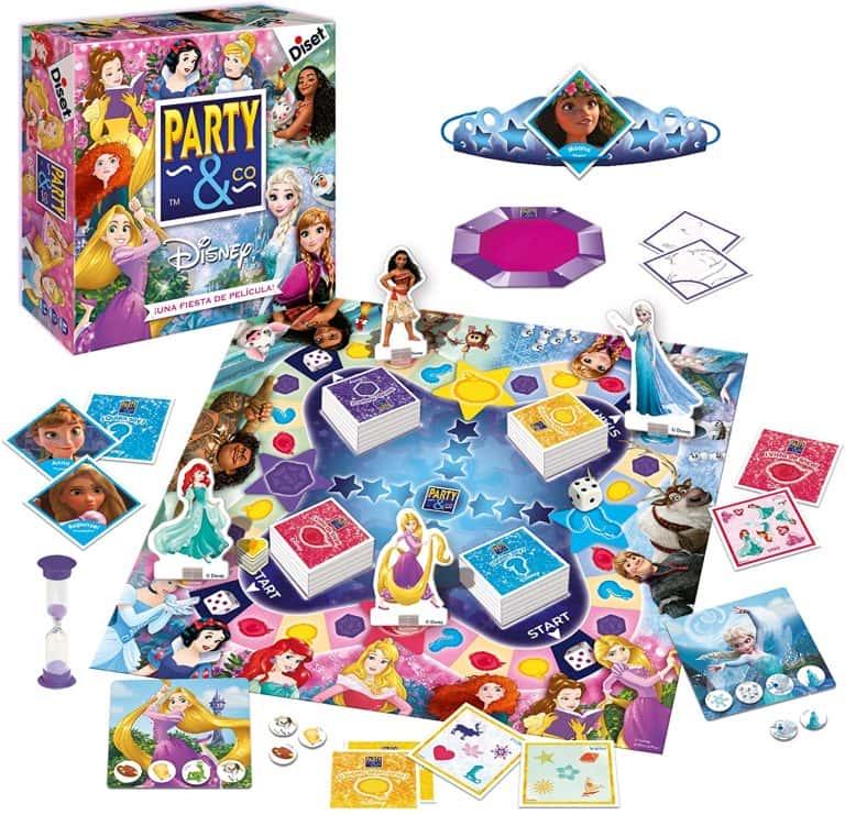 Party and Co Princesas Juego de mesa de habilidad para niños y niñas
