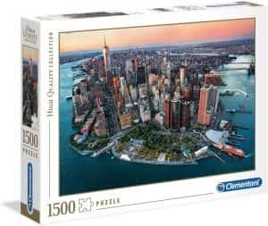 Puzzle de Nueva York de 1500 piezas de Clementoni - Los mejores puzzles de ciudades de EEUU - Puzzle de New York