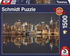 Puzzle de Nueva York de 1500 piezas de Schmidt - Los mejores puzzles de ciudades de EEUU - Puzzle de New York